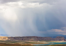 Lake Powell Cloudy Panorama Royalty Free Stock Image
