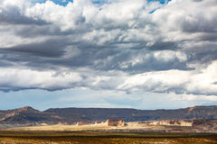 Lake Powell Cloudy Panorama Stock Photos