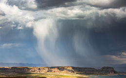 Lake Powell Cloudy Panorama Royalty Free Stock Images
