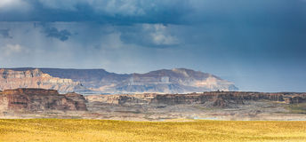 Lake Powell Cloudy Panorama Stock Images