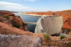 Lake powell dam Royalty Free Stock Photo