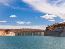Lake  powell and dam Stock Images
