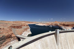 Lake Powell The dam on the Colorado River Royalty Free Stock Images