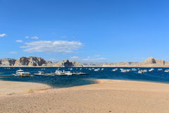 Lake Powell in the Desert of Arizona,United States Royalty Free Stock Photos