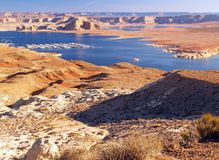 The Lake Powell in Glen Canyon Stock Photography