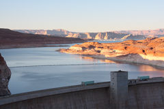 Lake Powell and Glen Canyon Dam. In Northern Arizona Stock Image