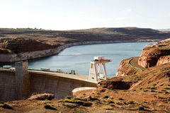 Lake Powell with Glen Canyon dam Royalty Free Stock Photo