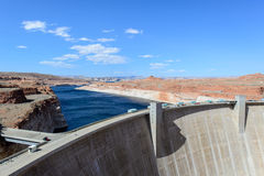 Lake Powell and Glen Canyon Dam in the Desert of Arizona,United Royalty Free Stock Images