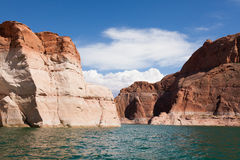Lake Powell, in Glen Canyon  in Utah and Arizona Stock Photography