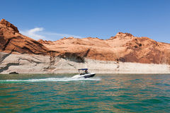 Lake Powell, in Glen Canyon  in Utah and Arizona Royalty Free Stock Photos