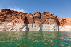Lake Powell, in Glen Canyon  in Utah and Arizona Royalty Free Stock Photo