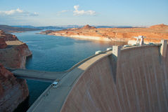 Lake Powell and Hoover Dam in Glen Canyon, Arizona. View of Glen Canyon Dam  near Page in Arizona, USA Royalty Free Stock Photography
