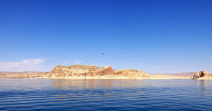 Lake Powell Island Royalty Free Stock Photography