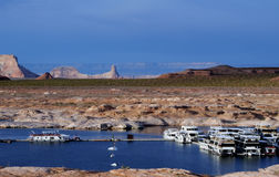 Lake Powell Marina, Arizona Royalty Free Stock Images