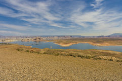 Lake Powell marina scenic view Royalty Free Stock Photos