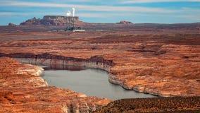 Lake Powell and Navajo Generating Station Royalty Free Stock Image