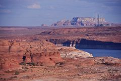Lake Powell in Page Stock Photo