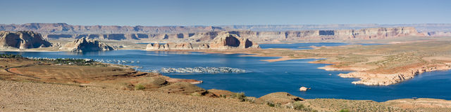 Lake Powell pano. Stock Image