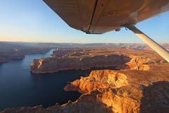 The lake Powell photographed on a sunset Royalty Free Stock Photography