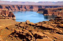 Lake Powell recreation area Stock Photo