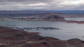 Lake Powell Recreational Area in Arizona stock footage