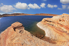 The Lake Powell in the red desert Stock Image