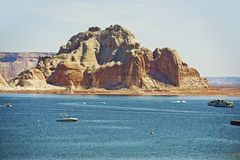 Lake Powell Reservoir. On the Colorado River in Northern Arizona State, United States. Popular Vacation Destination Royalty Free Stock Photo