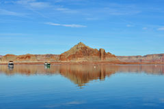 Lake Powell. Is a reservoir on the Colorado River, straddling the border between Utah and Arizona Royalty Free Stock Image
