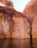 Lake Powell Rock Formation Stock Image