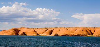 Lake Powell Rock Formation Hills Stock Image