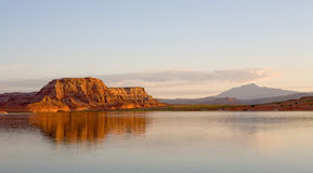 Lake Powell Rock Formation Sunrise Stock Image