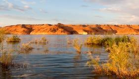 Lake Powell Rocks at Sunset Royalty Free Stock Image