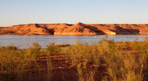 Lake Powell Rocks at Sunset Stock Image