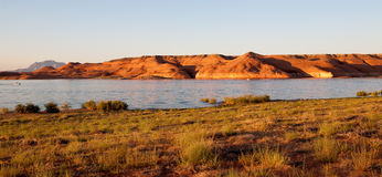 Lake Powell Rocks at Sunset Royalty Free Stock Photos