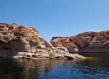 Lake Powell Sandstone Rocks Stock Images