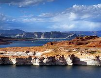 Lake Powell Shore Arizona. Lake Powell shore. Colorado river, near Page. Arizona, USA Stock Photo