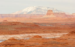 Lake Powell Smokey Mountain Utah Arizona Border Red Rock Landscape Stock Photography