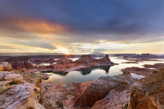 Lake Powell at Sunrise Royalty Free Stock Photo