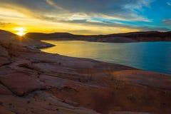 Lake Powell Sunrise Utah USA royalty free stock photo
