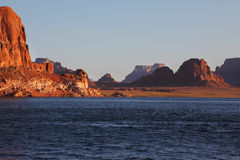 Lake Powell, sunset Royalty Free Stock Photo