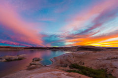 Lake Powell after Sunset Royalty Free Stock Image