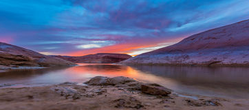 Lake Powell after Sunset Royalty Free Stock Photography