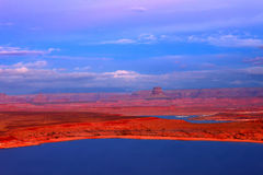 Lake Powell Sunset Utah Royalty Free Stock Photography