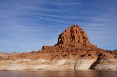 Lake Powell, USA. Lake Powell shoreline - a view from water in a bright sunny day Stock Photo