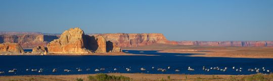 Lake Powell, USA. Lake Powell at sunset, USA Royalty Free Stock Photos