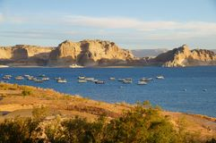 Lake Powell. View over Lake Powell in the morning sun Royalty Free Stock Photos