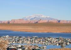 USA, AZ/Lake Powell:Wahweap Marina/Navajo Mountain royalty free stock photo