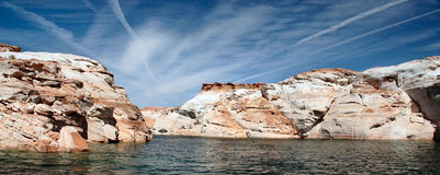 Lake Powell from the water. View from boat on lake Powell Royalty Free Stock Photography