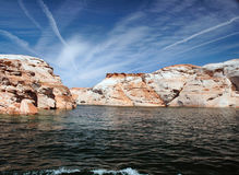 Lake Powell from the water. View from boat on lake Powell Royalty Free Stock Images