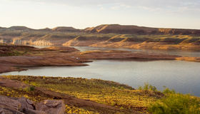 Lake Powell Water and Land Stock Photo